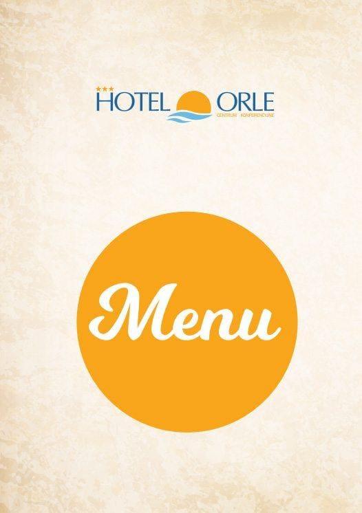 menu restauracji Hotelu Orle